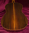 Brasilian rosewood guitar back view
